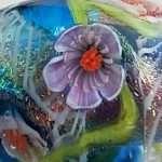Close up Purple Fringe Flower murrini