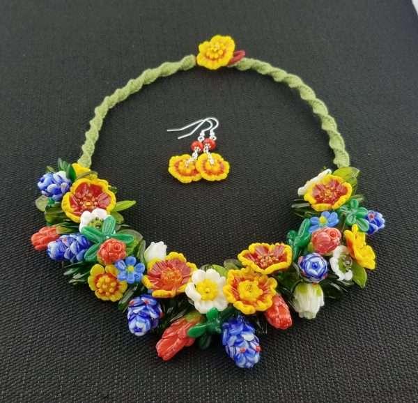 Texas Wildflower Necklace