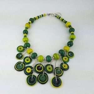 Disk Necklace Verde