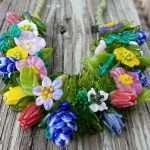 Wildflower necklace - Pinks