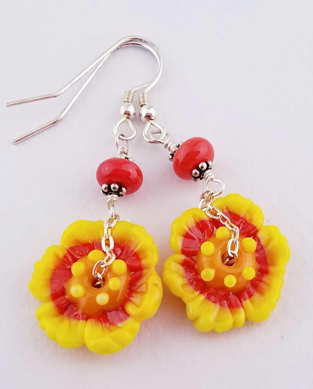 Coreopsis Wildflower Earrings