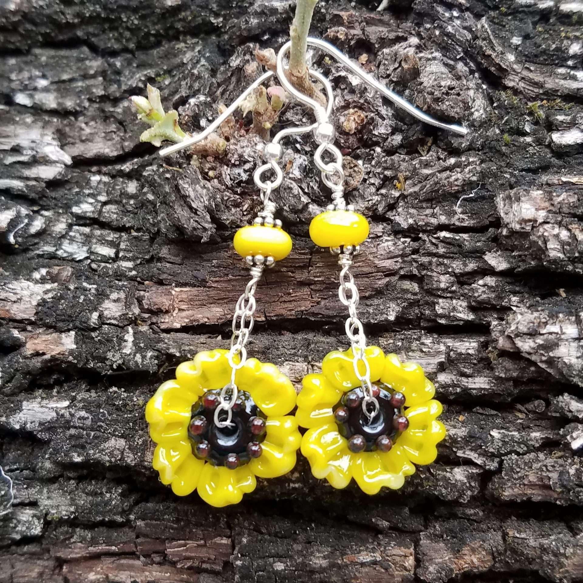 Black-eyed Susan Wildflower earrings